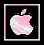 Ipod Digital Art Framed Prints - Pink Apple Framed Print by Rob Hans