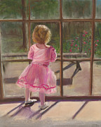 Pink Ballerina Print by Kathy Wood