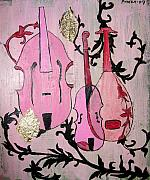 Baroque Mixed Media - Pink Baroque by Aliza Souleyeva-Alexander