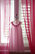 Bridesmaid Posters - Pink bridesmaids dress Poster by Gordana Sermek