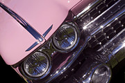Pink Cadillac Prints - Pink Caddie Grill Print by Rebecca Cozart