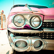 Pink Cadillac Prints - Pink Cadillac Print by David Waldo