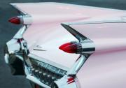 Pink Cadillac Prints - Pink Cadillac Eldorado Tail Fin Print by Jill Reger
