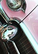 Cadillac Prints - Pink Cadillac Print by Rebecca Cozart