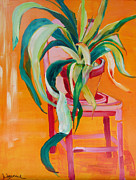 Suzanne Willis Metal Prints - Pink Chair Metal Print by Suzanne Willis
