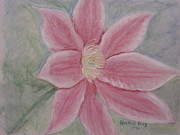 Heather Perez Metal Prints - Pink Clematis Metal Print by Heather Perez