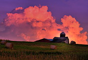 Country Scene Photos - Pink Cloud Barn by Emily Stauring
