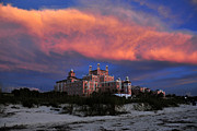 Sea Oats Metal Prints - Pink cloud Metal Print by David Lee Thompson