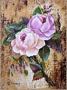 Jordan Originals - Pink Cotten Candy Roses by Jean Powers