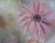 Flower Field Paintings - Pink Daisies by Donna Tuten