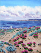 Laura Iverson - Pink Daisies in Sand Dunes