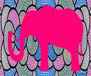 Hoodies Mixed Media Prints - Pink Elephant Print by Patrick J Murphy