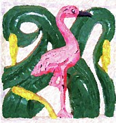 Flamingo Prints - Pink Flamingo Print by Debbi Granruth