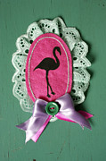 Featured Jewelry Metal Prints - Pink Flamingo  Metal Print by Janina Aberg