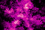 Aged Digital Art Originals - Pink Flower Arrangement by Phill Petrovic