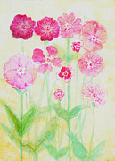 Spiritual Paintings - Pink Flowers by Ashleigh Dyan Moore