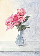 Shelf Originals - Pink Flowers by Ken Powers