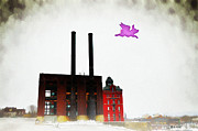 Flying Pig Prints - Pink Floyd Animals - Wilkes Barre Print by Bill Cannon