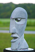 Pink Sculptures - Pink Floyd Head by Tommy  Urbans