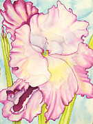 Glads Paintings - Pink Glads1 by Adam Konigsberg