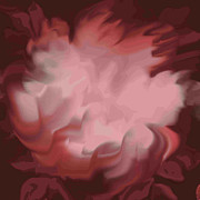 Posters On Digital Art - Pink Glory Flower by Elva Kimble