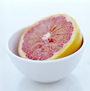 Grapefruit Photo Framed Prints - Pink Grapefruit Framed Print by David Munns