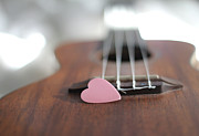 Guitar Framed Prints - Pink Heart Framed Print by © 2011 Staci Kennelly