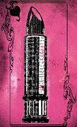 Magenta Mixed Media Posters - Pink Lipstick Writing Print Poster by AdSpice Studios