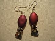 Pink Love Earrings Print by Jenna Green