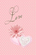 Graphic Digital Art - Pink Love by Jannina Ortiz