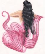 Prismacolor Colored Pencil Drawings Prints - Pink Mermaid Print by Scarlett Royal
