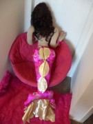 Doll Sculptures - Pink Mermaid Tail by Cassandra George Sturges