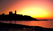 Nubble Lighthouse Photo Posters - Pink Nubble Poster by Emily Stauring