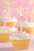 Party Birthday Party Prints - Pink Party Cupcakes Print by Christopher and Amanda Elwell