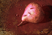 Water Drops Digital Art - Pink Pear by Sari Sauls