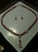 Jewelry Sets Jewelry - Pink Pearl with Quartz by Holly McCarver