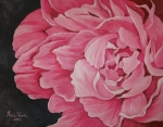 Valentine Paintings - Pink Peony by Nicole Werth