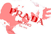 Red Pyrography Prints - Pink Prada Print by Lisa Eryn