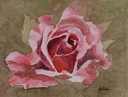 Flower Blossom Originals - Pink Rose by Gretchen Bjornson