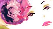 Pink Rose Lipstick Girl Print by Jayne Logan Intveld