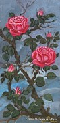 Folkartanna Paintings - Pink Roses by Anna Folkartanna Maciejewska-Dyba