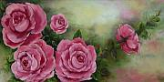 Pink Roses Print by Joni McPherson