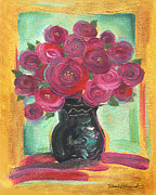 Engagement Painting Prints - Pink Roses Print by Renee Womack