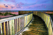 Walkway Digital Art - Pink Sands by Kristin Elmquist
