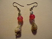Pink Jewelry - Pink Seashell Earrings by Jenna Green
