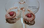 Style Jewelry - Pink Shell and Viking Nit Earrings by Brittney Brownell