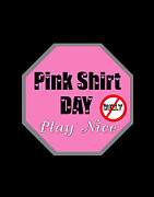 Shirt Digital Art - Pink Shirt Day by Linda Diane Taylor