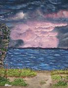 Newfoundland Art Paintings - Pink Sky by Allison Prior