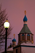 Onion Dome Framed Prints - Pink Sky Framed Print by Rick  Monyahan