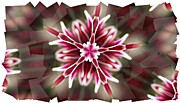Mums Digital Art Framed Prints - Pink Snowflake  Framed Print by Cathie Tyler